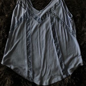 Baby Blue Lace Tank Top